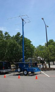 AZ-EL Satellite Antenna on NFARL trailer